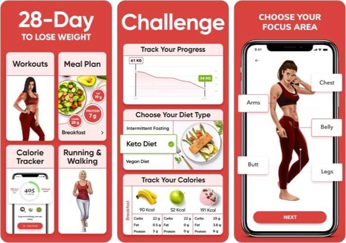 BetterMe Track Diet & Workout iPhone App Screenshot