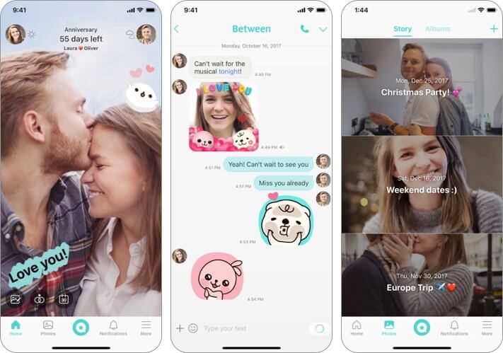 Between Valentine's Day app for iPhone screenshot
