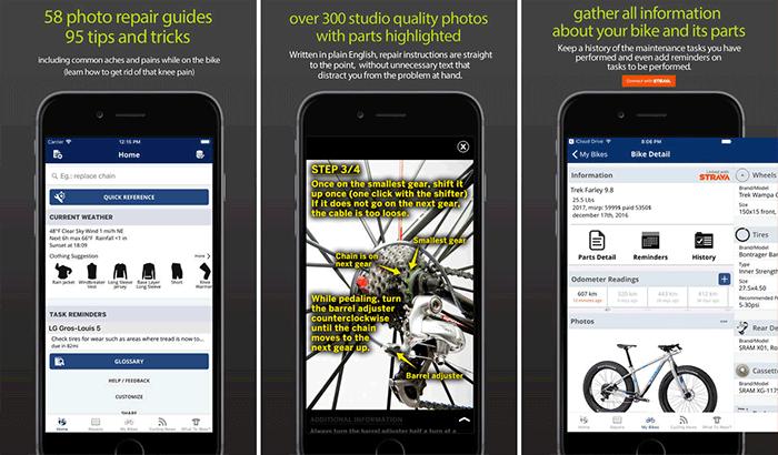 Bike Repair Cycling iPhone App Screenshot