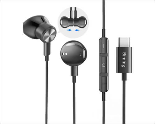 Biming USB C Headphones Compatible with MacBook, iPad Pro and Android Devices
