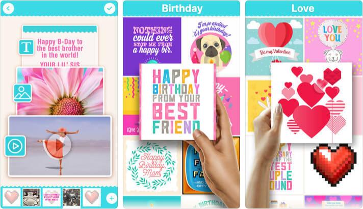 Birthday Card Invitation Maker iPhone and iPad App Screenshot