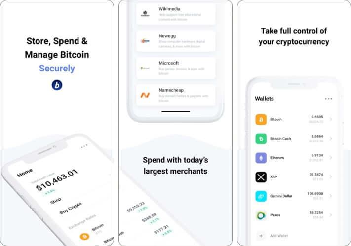 BitPay Secure Bitcoin Wallet iPhone and iPad App Screenshot