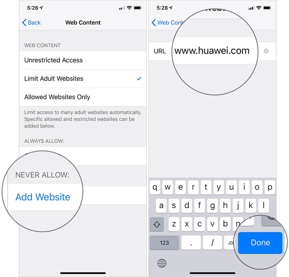 Block Certain Websites on iPhone and iPad in iOS 12