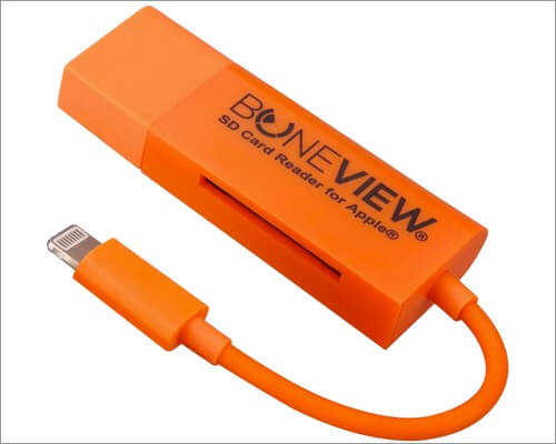 BoneView Lightning to SD Card Camera Reader for iPhone and iPad