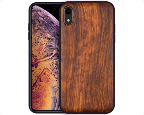 Boogice iphone xr wooden case
