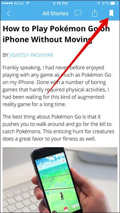 Bookmark Article in iGeeksBlog iPhone App