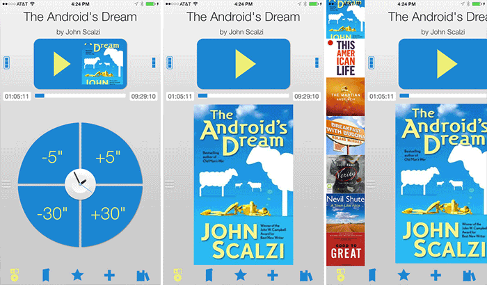 Bookmobile Audiobook and Podcast Player iPhone and App Screenshot