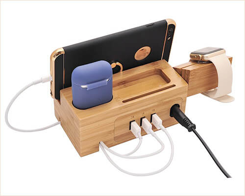 BoxThink Wooden Docking Station for iPhone Xs Max, Xs, and iPhone XR