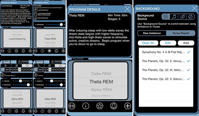 BrainWave Dream Inducer iPhone and iPad App Screenshot