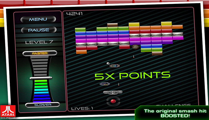 Breakout iPhone and iPad Arcade Game Screenshot