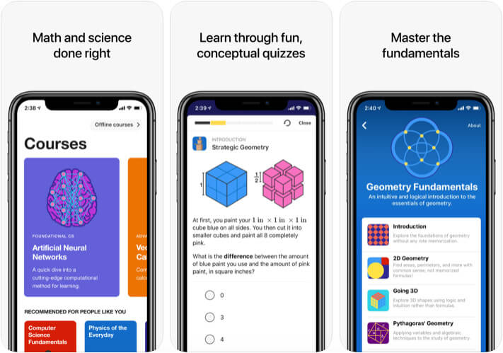 Brilliant iOS Chemistry App Screenshot