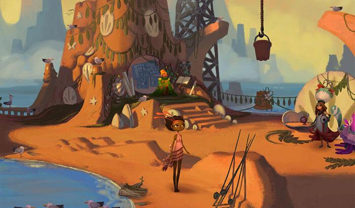 Broken Age iPhone and iPad Adventure Game Screenshot