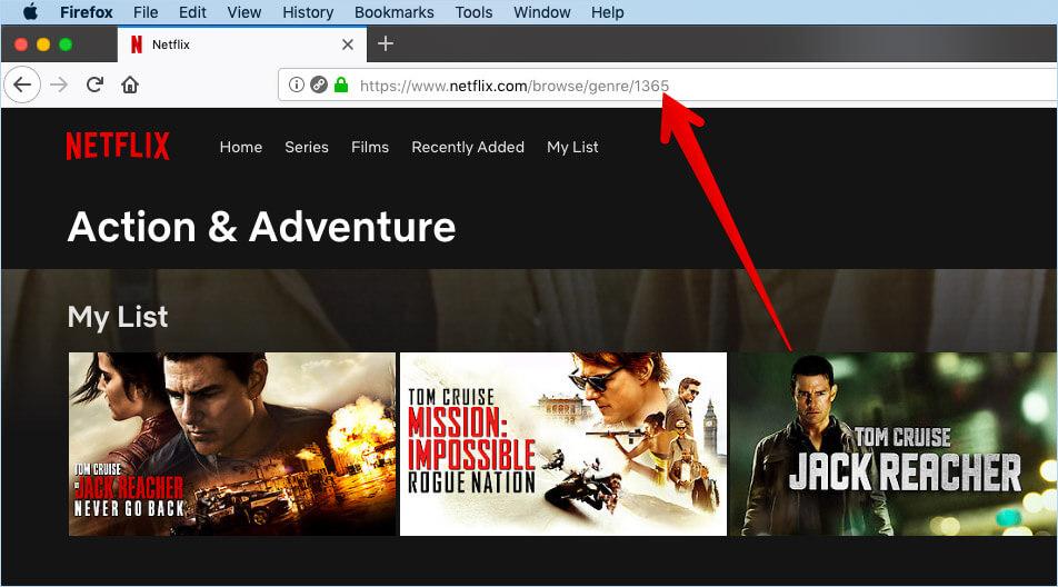 Browse Hidden Categories of Netflix