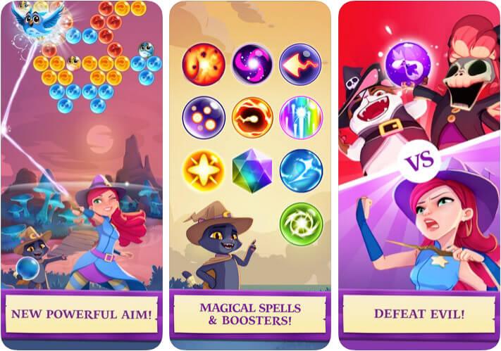 Bubble Witch Saga iMessage Game App Screenshot