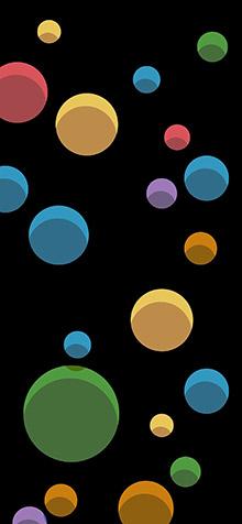 Bubbles iPhone XS Max Wallpaper