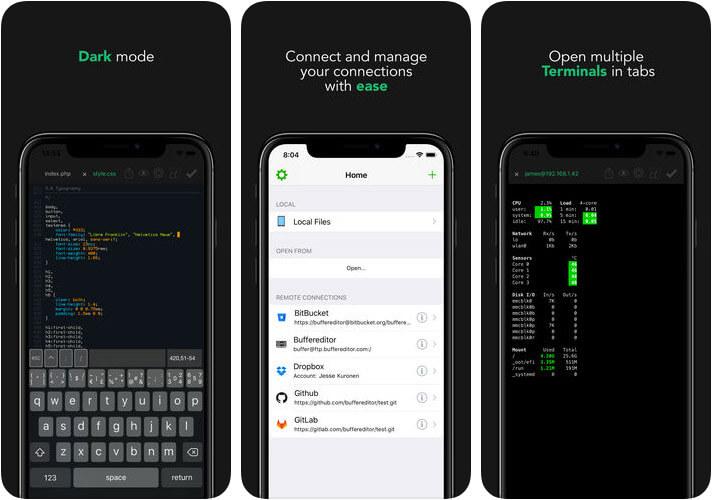 Buffer Editor iPhone and iPad HTML Editor App Screenshot
