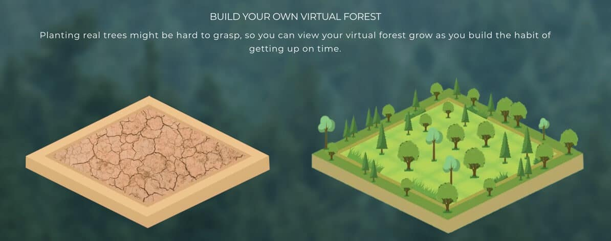 Build Virtual Green Forest with EcoWake App