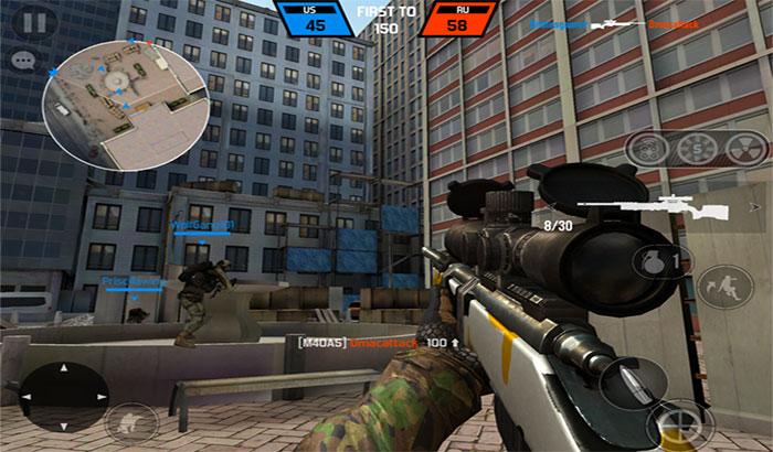 Bullet Force iPhone and iPad Game Screenshot