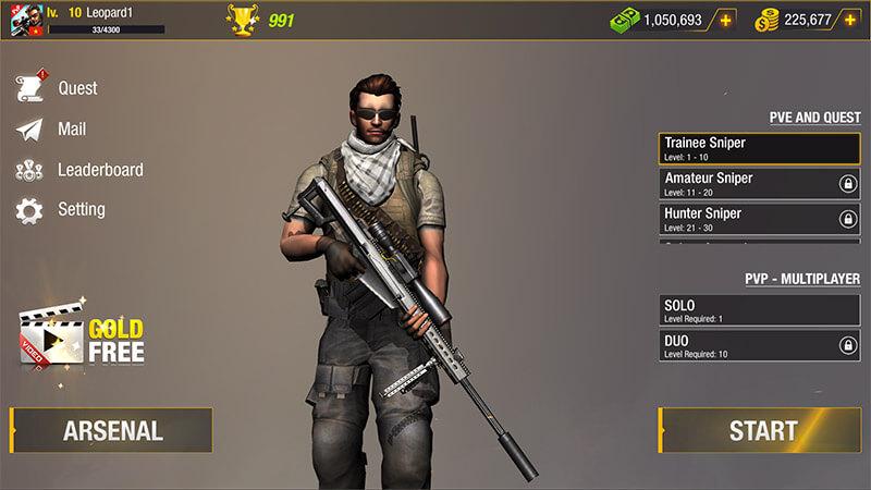 Bullet Strike Android Game Screenshot