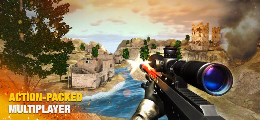 Bullet Strike iPhone and iPad Game Screenshot