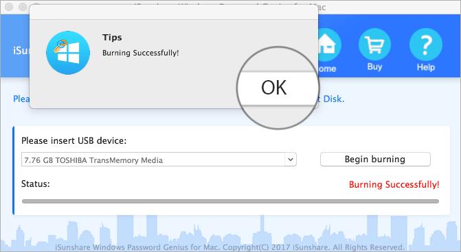 Burn Flash Drive in iSunShare