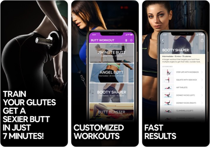 Butt Workout and Fitness App for Women