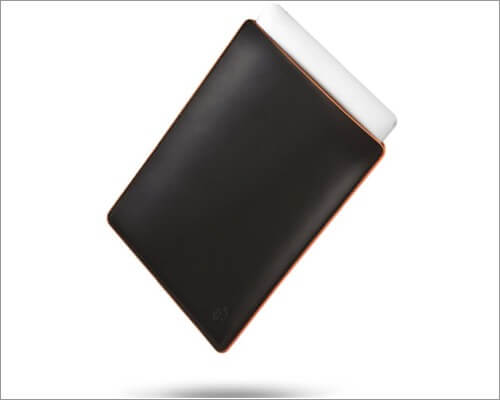 CAISON Genuine Leather Sleeve for MacBook Air