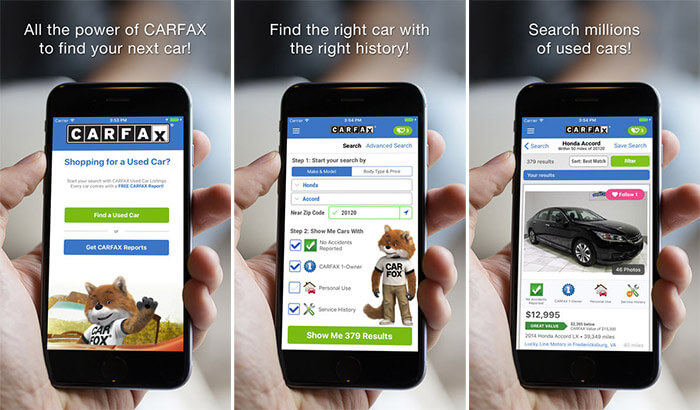 CARFAX Find Used Cars for Sale iPhone and iPad App Screenshot