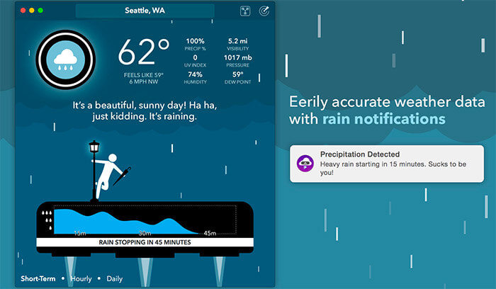 CARROT Weather App Screenshot
