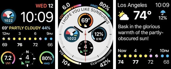 CARROT Weather Apple Watch App Screenshot