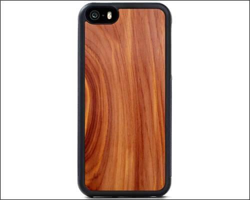 CARVED Cedar Wood iPhone SE Case