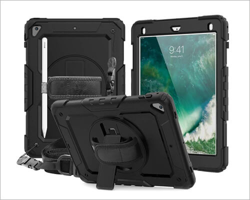 CASZONE iPad 10.2-inch Heavy-Duty Case