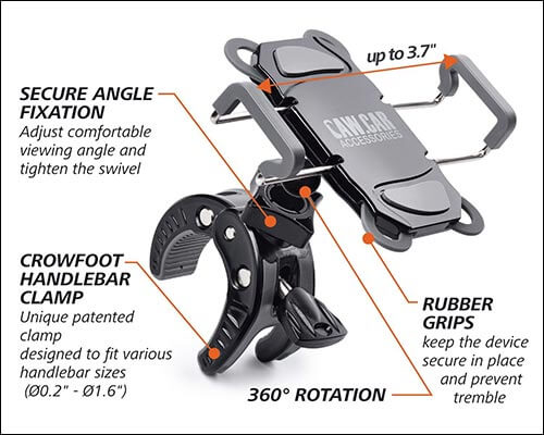 CAW.CAR Accessories iPhone 5, 5s and iPhone SE Bike Mount