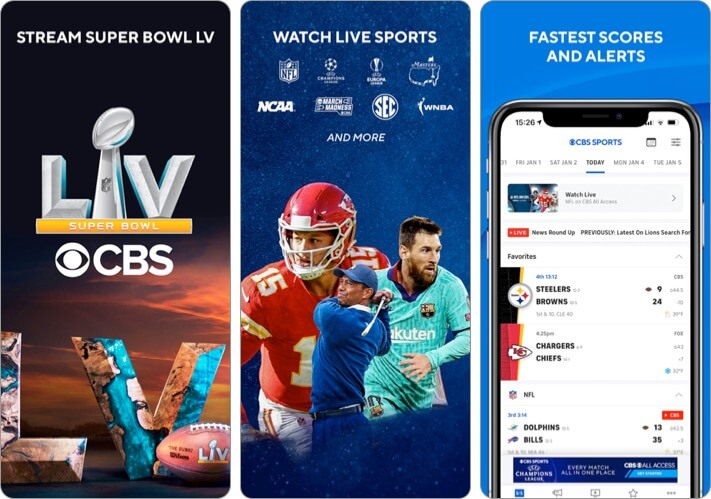 CBS Sports App Scores, News iPhone and iPad App Screenshot