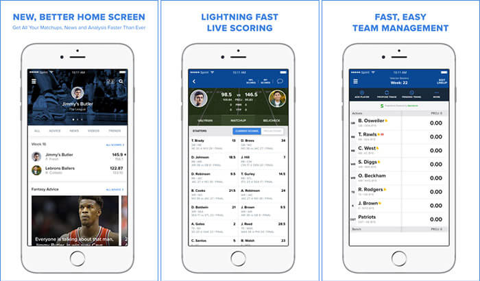 CBS Sports Fantasy iPhone and iPad App Screenshot