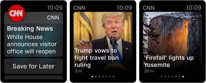 CNN Apple Watch News App Screenshot