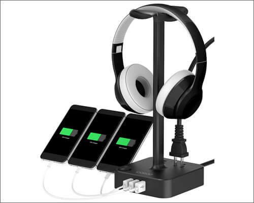 COZOO Gaming Headset Stand with USB Charger