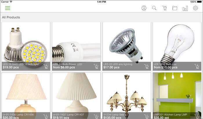 CREAM deal iPad Catalogue Management App Screenshot