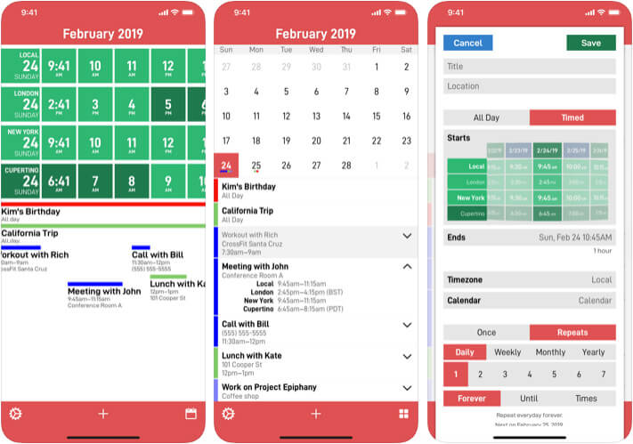 CalZones Time Comverter iPhone and iPad App Screenshot