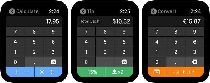 Calcbot 2 Apple Watch Calculator App Screenshot