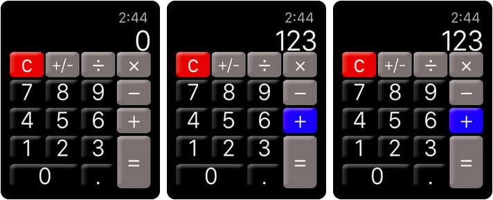 Calculator Apple Watch App Screenshot