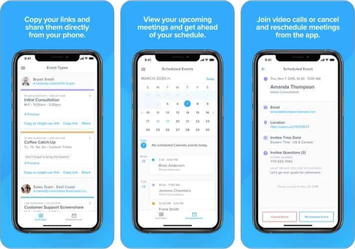 Calendly Best iPhone business meeting app screenshot