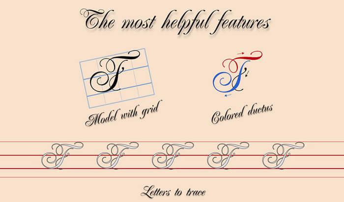 Calligraphy Penmanshi iPad App Screenshot
