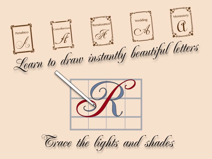 Calligraphy Penmanship iPhone and iPad Handwriting App Screenshot