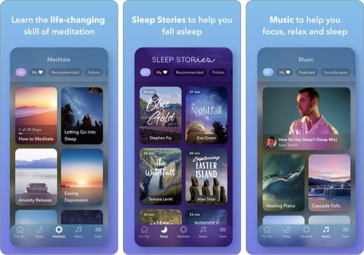 Calm Meditation iPhone and iPad App Screenshot