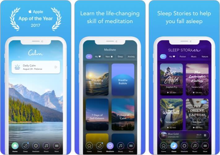 Calm iPhone Workout App Screenshot
