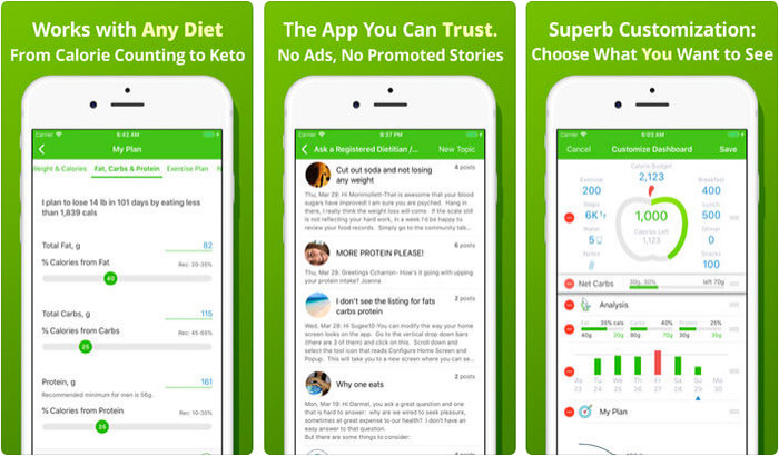 Calorie Counter MyNetDiary iPhone App Screenshot