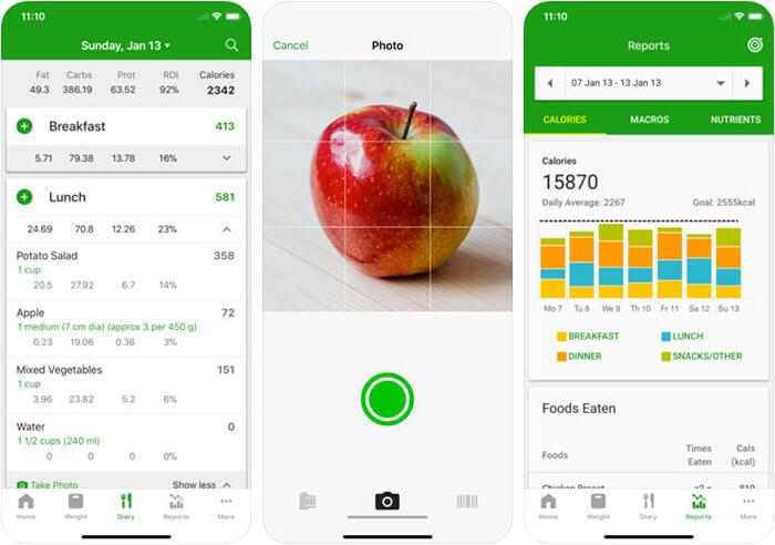 Calorie Counter by FatSecret iPhone and iPad App Screenshot