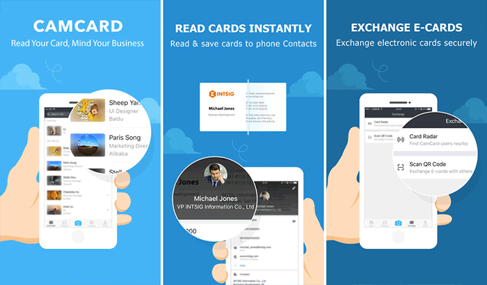 CamCard Business Card Readers and Scanners iPhone App Screenshot