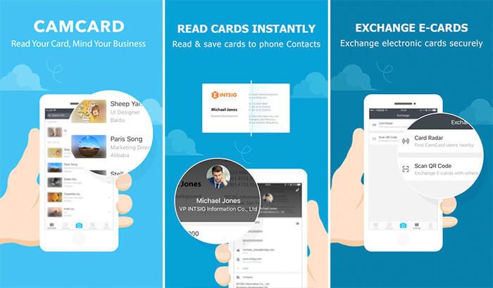 CamCard iPhone App Screenshot